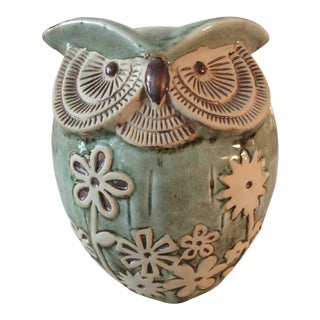 Contemporary Sage Owl Figurine For Sale