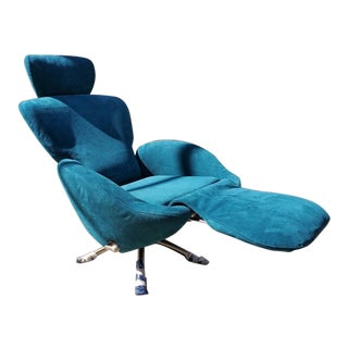 Mid Century Modern Cassina K10 Dodo Reclining Lounge Chair Newly Upholstered For Sale