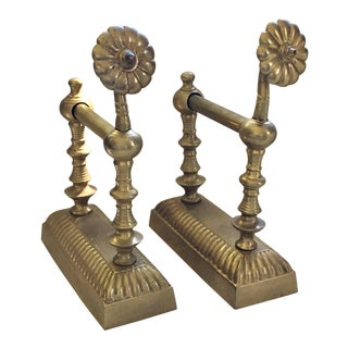 Architectural Brass Bookends - a Pair For Sale
