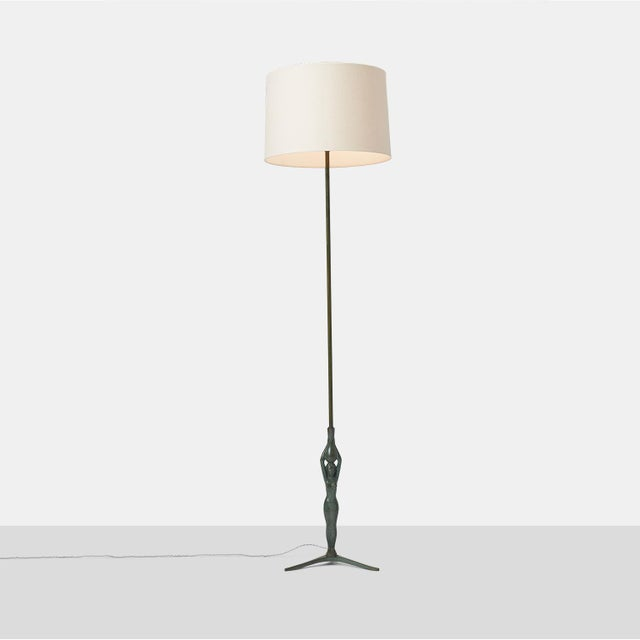 Gino Scarpa Floor Lamp in Bronze For Sale In San Francisco - Image 6 of 6