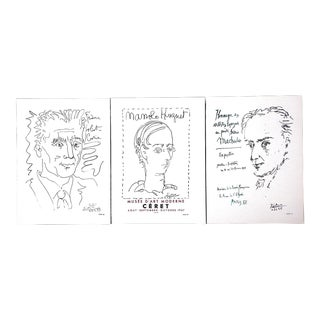Vintage Mid 20th Century Picasso Lithographs-1957-Set of 3 For Sale