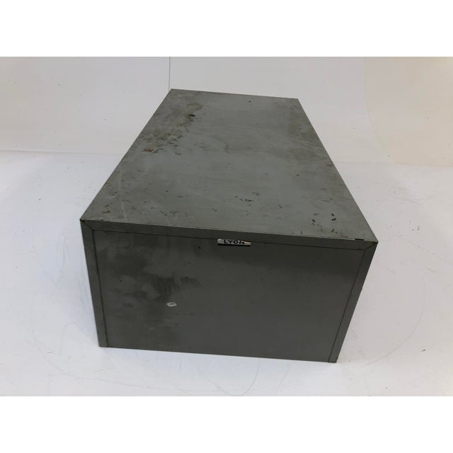 Vintage Industrial 18 Drawer Steel Parts Cabinet by Lyon For Sale - Image 6 of 13