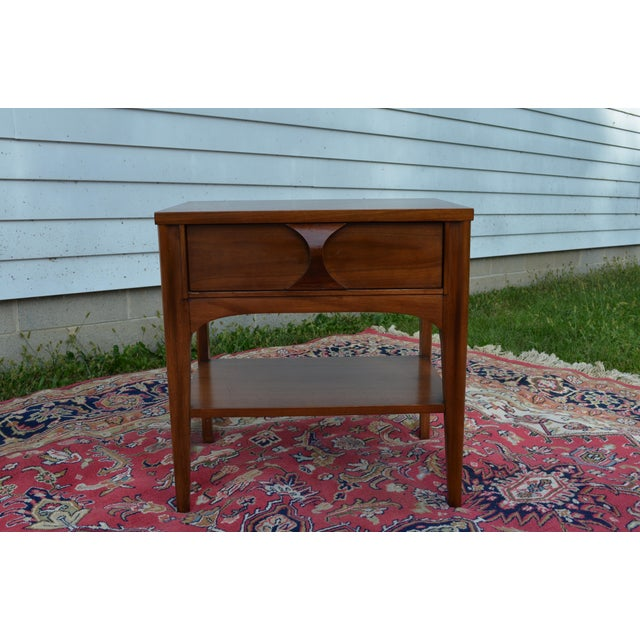 1960s 1960s Mid Century Modern Walnut and Rosewood Perspecta Night Stand by Kent Coffey For Sale - Image 5 of 12