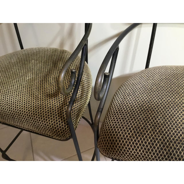 Wrought Iron Bar Stools - A Pair - Image 4 of 11