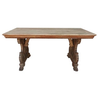 19th Century Italian Trestle Writing Table