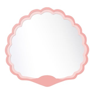Fleur Home x Chairish Carnival Proteus Mirror in Pink Punch, 36x33 For Sale