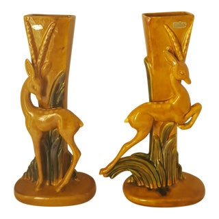 Royal Haeger Stamped Vintage Gizelle Sculpture Vases - Set of 2 For Sale