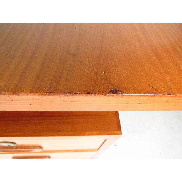 Mid-Century Teak Floating Top Desk - Image 10 of 11