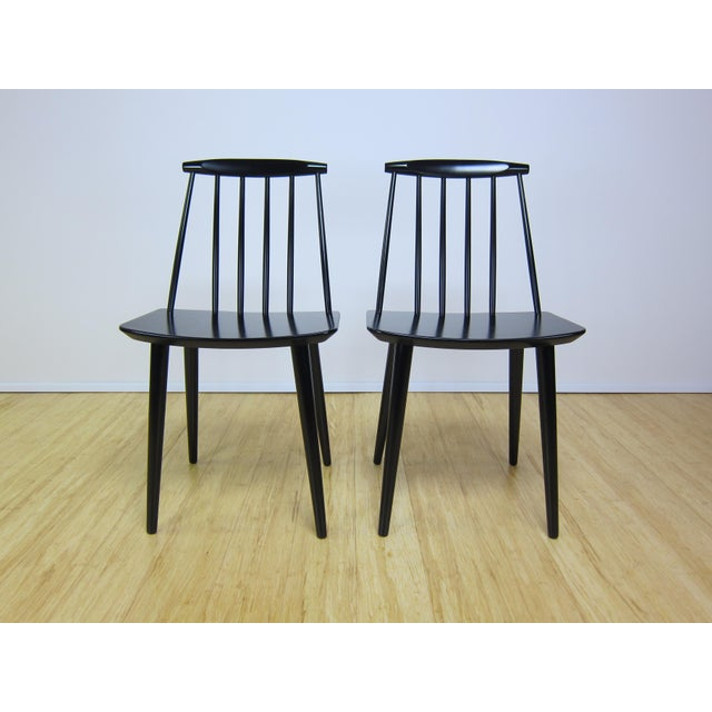 J77 chairs designed by Folke Palsson for FDB Mobler circa 1968. These chairs have been fully sanded,primed and resprayed...
