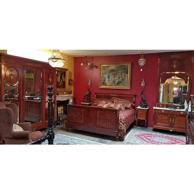 HIGHLY IMPORTANT AND UNIQUE Louis XVI Style Bedroom Set, in the Manner of Francois Linke, from circa 1880. You will NOT...