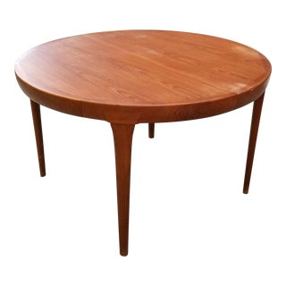 Mid Century Ib Kofod Larsen for Faarup Mobelfabrik Teak Dining Table For Sale