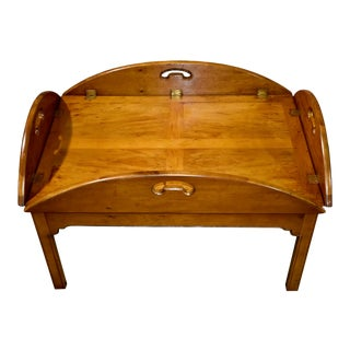 Vintage Wright Company Solid Cherry Butlers Table For Sale