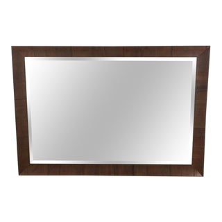 Wood Framed Wall Mirror For Sale