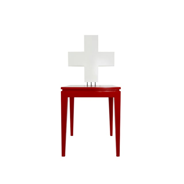 """This is a """"Schwiiz"""" chair made for Switzerland's 700th Independence Day. Designed by Reto Kaufmann and Produced by..."""