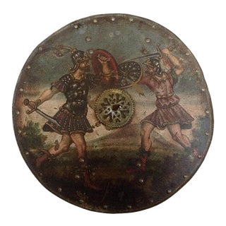 18th Century Later Painted Decorated Shield For Sale