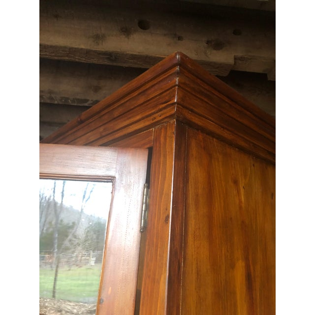 Glass Country Kitchen Cupboard Cabinet With Lots of Storage For Sale - Image 7 of 12