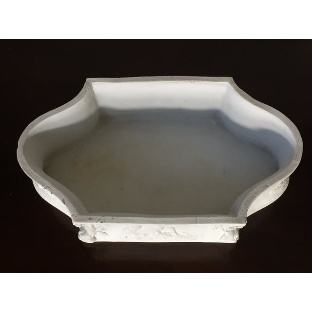 Rectangular White Bisque Floral Tray - Image 6 of 9