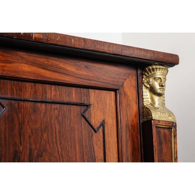 19th Century English Regency, Two-Door Cabinet, Rosewood with Doré Bronze Mount - Image 4 of 9