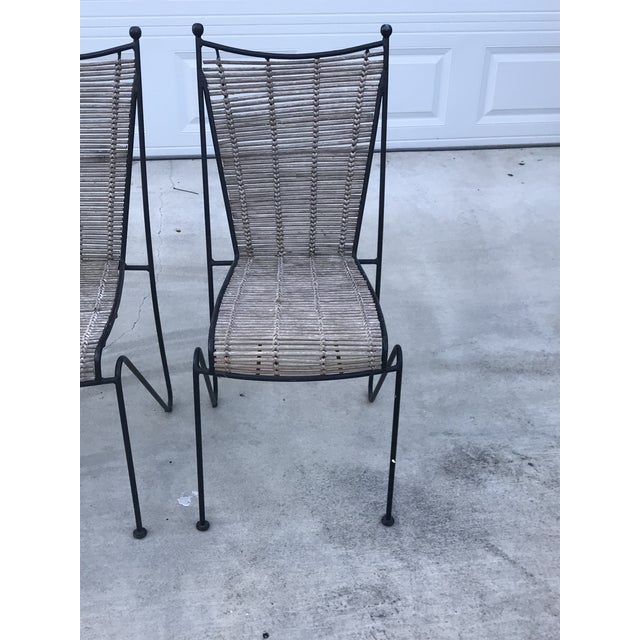 Bamboo Set of 6 Mid-Century Ficks Reed Bamboo and Metal Chairs For Sale - Image 7 of 13