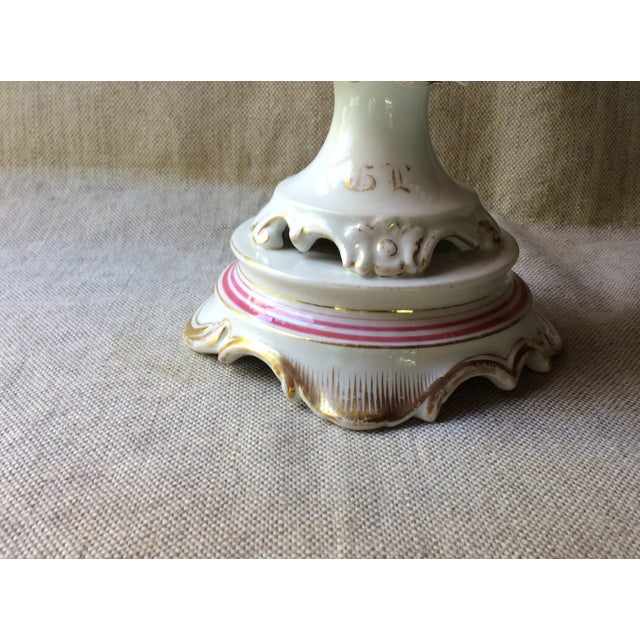 French Antique Porcelain, Pink & Gold Corbeille, 19th C For Sale - Image 4 of 10