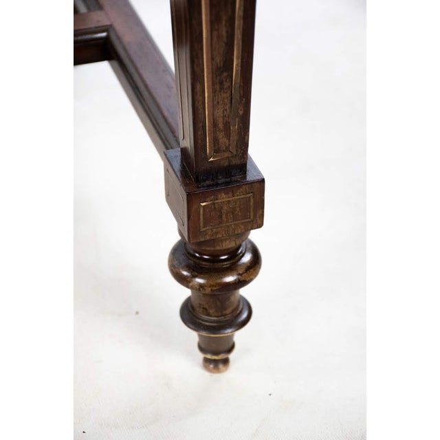 Louis Philippe Brass and Mother of Pearl Inlay Gentleman's Dressing Stand For Sale - Image 12 of 13