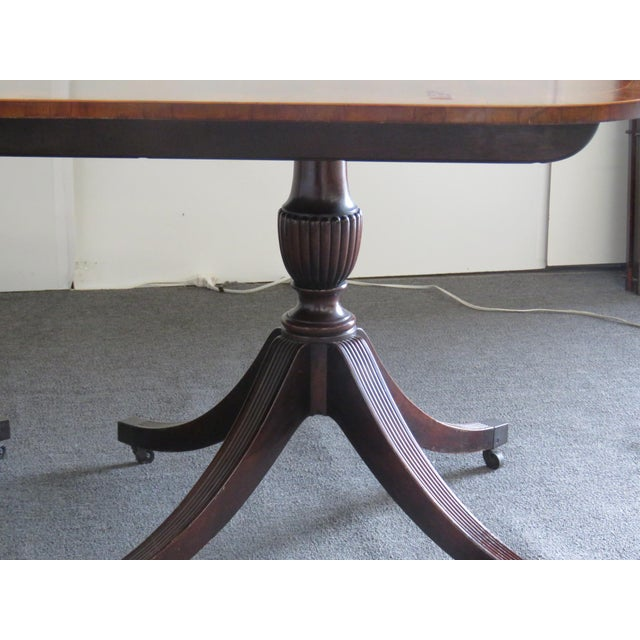 Georgian Baker Georgian Style Double Pedestal Dining Table For Sale - Image 3 of 11