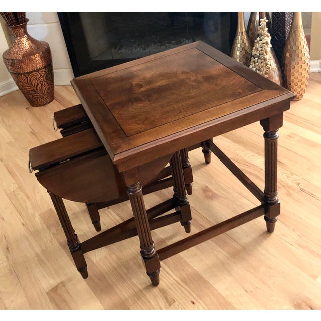 Traditional Gordon's Fine Furniture Nest of Tables - Set of 3 For Sale - Image 10 of 13
