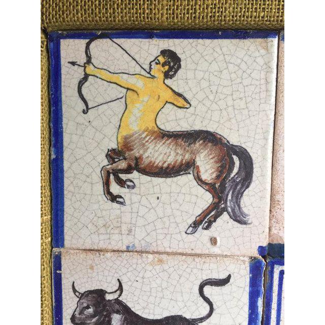Framed Mid-Century Modern Zodiac Tiles For Sale - Image 4 of 8
