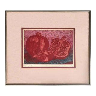 """""""Pomegranates"""" Lithograph by Marcella Corwin For Sale"""