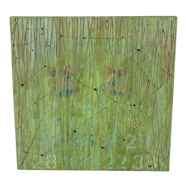 Abstract on Wood by Noted Los Angeles Artist Dawn Arrowsmith For Sale