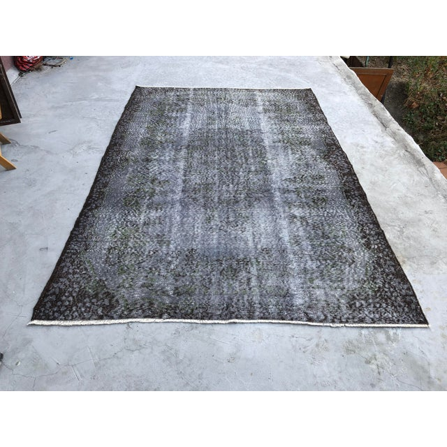 1960s Turkish Handmade Floor Rug For Sale - Image 10 of 10