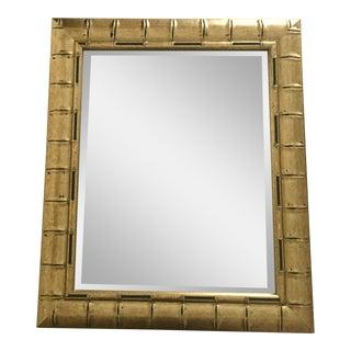 Gold Bamboo Beveled Mirror