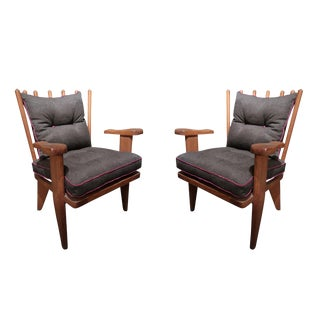Guillerme Et Chambron Pair of Chairs, France 60' For Sale
