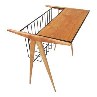 Arthur Umanoff Modernist Side Table Magazine Rack