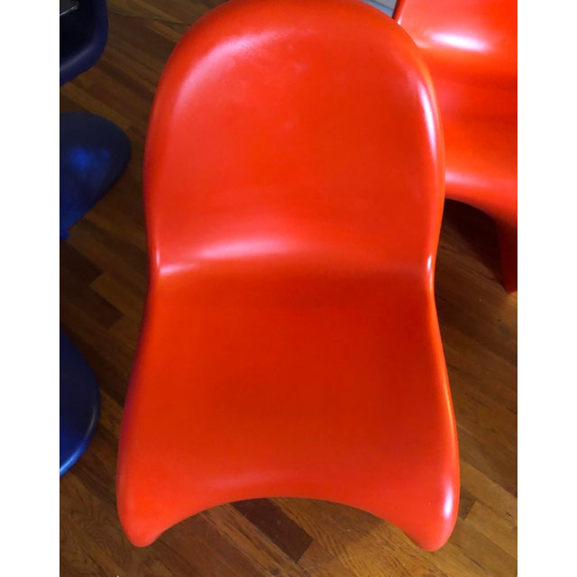 Plastic Verner Panton for Vitra Chairs- Set of 4 For Sale - Image 7 of 11
