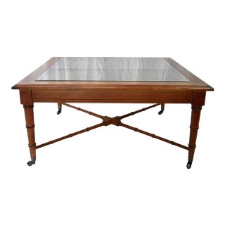 Vintage Faux Bamboo Cocktail Table For Sale