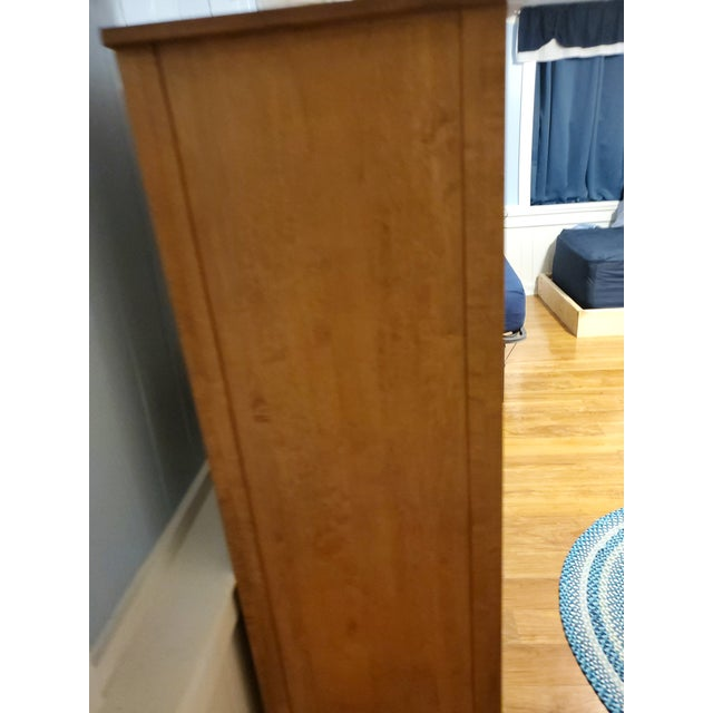 Vintage Ethan Allen Country French Solid Maple Tall Armoire Dresser For Sale In Jacksonville, FL - Image 6 of 9