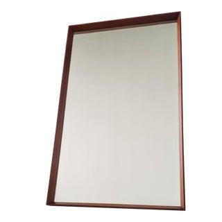 Pedersen & Hansen Danish Teak Wall Mirror For Sale