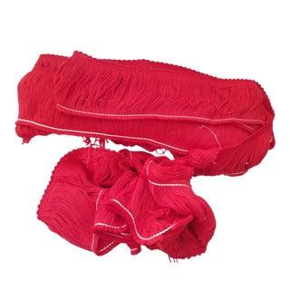 Vintage Red Fringe - 7 Yards
