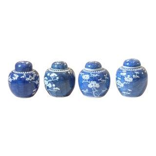 Chinese Porcelain Ginger Jars, set of 4 For Sale