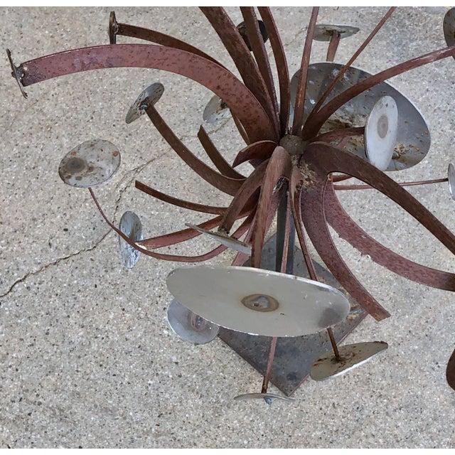 Frank Cota Brutalist Metal Table Sculpture For Sale - Image 11 of 12