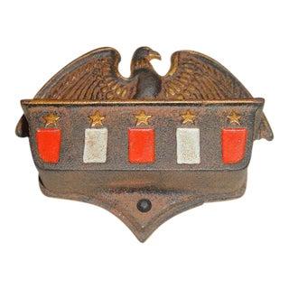 Vintage Art Deco Cast Iron Match Holder