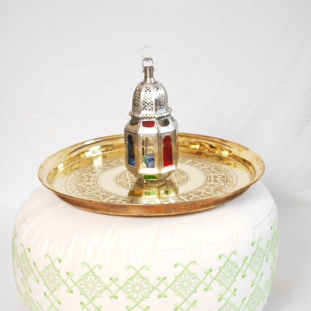 Vintage Moroccan Brass Tray - Image 3 of 3