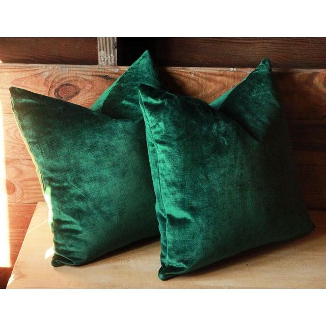 Emerald Green Jewel Tone Velvet Pillows A Pair Chairish