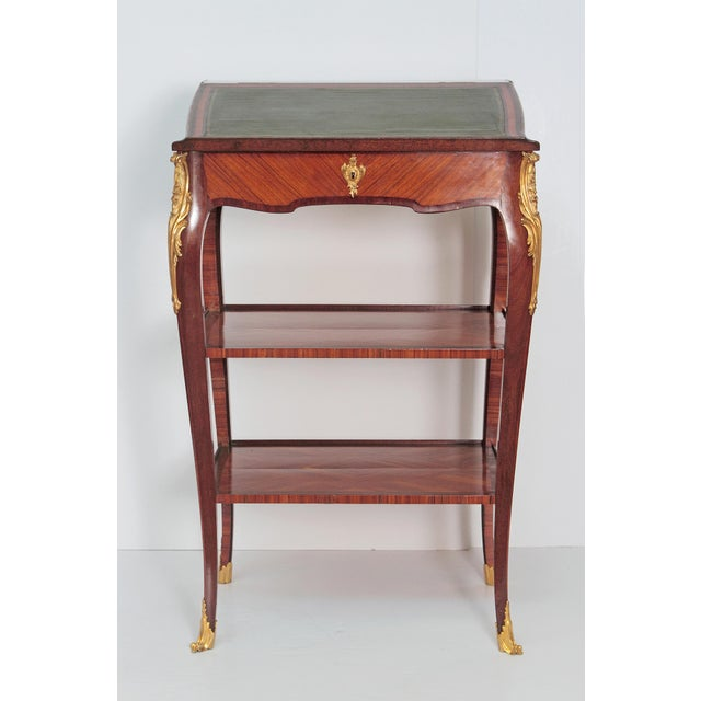 Louis XV Style Small Writing Desk / Table by Alfred Emmanuel Louis Beurdley - Image 11 of 11