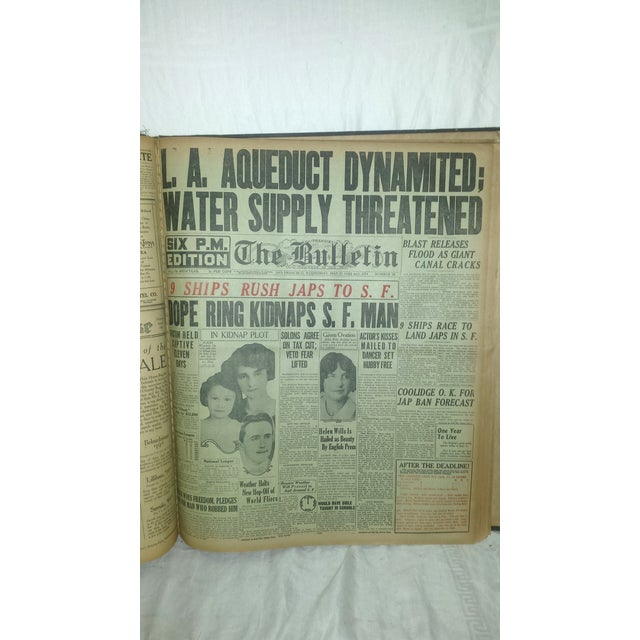 SF Bulletin 1924 Huge Newspaper Book - Image 11 of 11