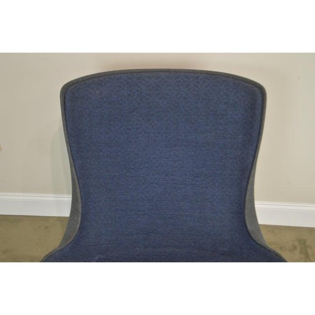 Monica Forster for Bernhardt Chrome Base Swivel Vika Lounge Chair For Sale - Image 11 of 13