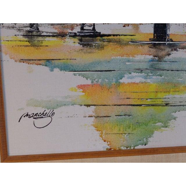 Impressionist Bay Bridge by Adriano Marchello For Sale - Image 7 of 11