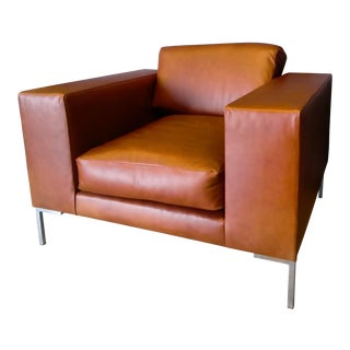 Gambrell Renard Whiskey Leather Chair For Sale