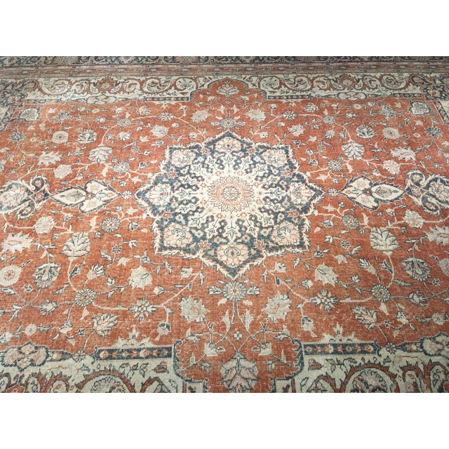 "Vintage Turkish Oushak Rug - 8'9"" x 11'10"" - Image 4 of 8"